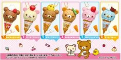 Re-ment Rilakkuma Ice Cream Cone Ink Pens