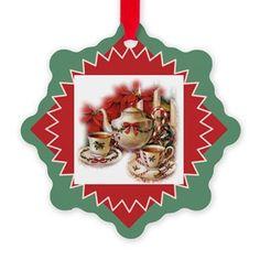 Vintage Christmas Tea Ornament