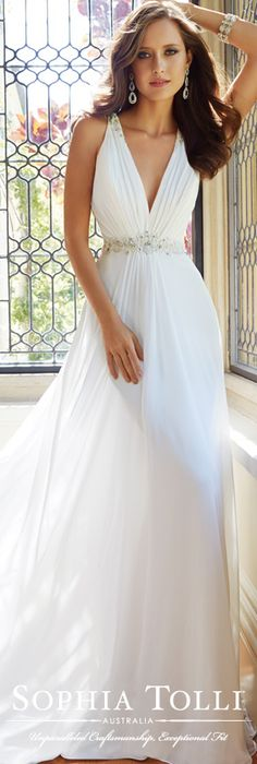 The Sophia Tolli Wedding Dress Collection - Style No. Y21435 Joanne www.sophiatolli.com #weddingdresses #weddinggowns