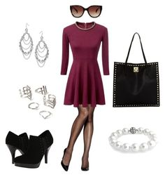Mauve w/ Sparkle! by ohsosara64 on Polyvore featuring polyvore, fashion, style, Chicnova Fashion, Hanes, Unlisted by Kenneth Cole, Betsey Johnson, LowLuv, Bling Jewelry, Forever 21 and clothing