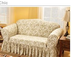 shabby chic chairs for sale sofa slipcovers floral ruffled skirt one piece cover simply covers sofas living room furniture love Shabby Chic Couch, Shabby Chic Slipcovers, Shabby Chic Decor Living Room, Shabby Chic Bedrooms, Shabby Chic Furniture, Sofa Slipcovers, Sofa Sale, Sofa Covers, Cushions On Sofa