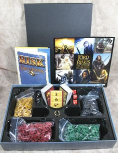 Risk Lord of the Rings Trilogy Edition 2003 Complete Including HTF Ring #ParkerBrothers