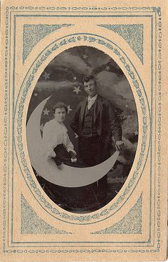 A Couple on a Paper Moon - Tintype