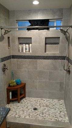 49 Luxurious Tile Shower Design Ideas For Your Bathroom is part of Master bathroom shower - Suppose you just moved into a new home It is the home of your dreams with one exception; Casa Magnolia, Master Bathroom Shower, Bathroom Gray, Modern Bathroom, Shower Walls, Small Bathrooms, Small Baths, Shower Niche, Diy Shower