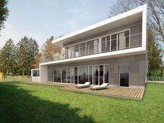 HAUS GWT | AL Architekt Garage Doors, Outdoor Decor, Home Decor, New Construction, Detached House, Architecture, Homes, Decoration Home, Room Decor