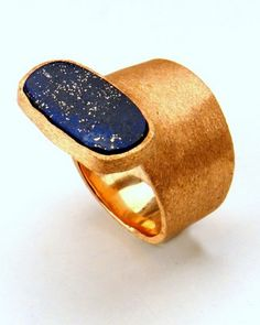 Bespoke ring in lapis and 18k rose gold. Designed by AnaKatarina