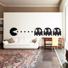 Pacman Wall Decal Decor Art Vinyl Pac Man Boys Kids Room Decals from Happy Walls. Saved to Wall Decals and Iphone Cases. Game Room Decor, Boy Decor, Room Decorations, Wall Decor, Deco Gamer, Game Room Design, Gamer Room, Kids Wall Decals, Man Room