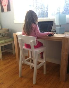DIY instructions for building a preschooler's chair sized for a standard table. Anyone care to make this for me? ;-)