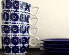 4 GERMANY SCHÖNWALD Tea/Coffee Cups and Saucers Arabia Finlande similar