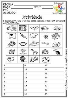 Atividades Escolares: Ordem alfabética Romanian Language, Portuguese Lessons, English Activities, Cut And Paste, Just Love, Maid, Thankful, Education, 30