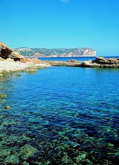 Playas and calas of Xàbia, in the province of Alicante, Valencia, Spain, by the Mediterranean Sea.