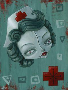 """Made by: Megan Majewski , """"Robo Nurse""""  - (Red Cross nurse)"""