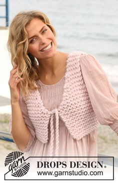 Basic patterns - Free knitting patterns and crochet patterns by DROPS Design Knit Cardigan Pattern, Knit Shrug, Jacket Pattern, Crochet Cardigan, Knit Crochet, Cardigan Design, Knitting Patterns Free, Knit Patterns, Free Knitting