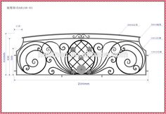 wrought iron steel fence railing balcony grill designs ZZ020