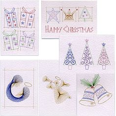Christmas Stitching Cards
