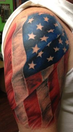 "Patriotic Tattoos | Inked Magazine would also like the words ""liberty or death"" worked in somehow..."