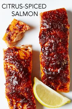 Salmon is marinated in pineapple and lemon juice and then baked with a sweet and spicy topping, leaving every bite the perfect blend of flavorful (but mellow) fish!
