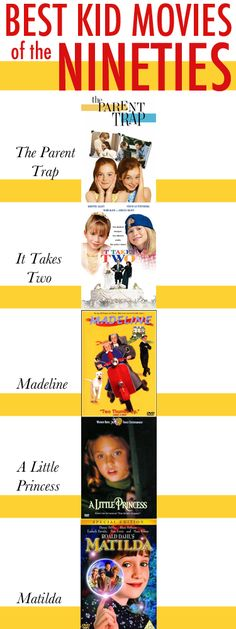 Some of the best kids movies to of the 90's. There are so many I can already count! #ILoveMyChildhood