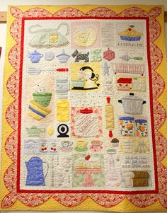 Diary of a Quilter - a quilt blog. Such a charming kitchen quilt. Love it!