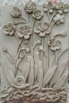 Discover thousands of images about Discover art inspiration ideas styles – Artofit Vase Crafts, Clay Crafts, Ceramic Flowers, Clay Flowers, Clay Wall Art, Clay Art Projects, Play Clay, Clay Tiles, Sculpture Clay