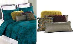 CLOSEOUT!Nanette Lepore Villa Teal Baroque Comforter and Duvet Cover Sets