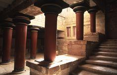 Palazzo di Cnosso, ca. 2000 a.C. Palazzo di Cnosso, Isola di Creta, Grecia.