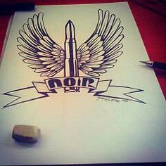 """""""Bullet"""" Drawing pen on paper A4 2014 Hand made by Yanas Kosel"""