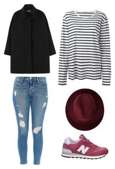 """""""Outfit Idea by Polyvore Remix"""" by polyvore-remix ❤ liked on Polyvore featuring New Balance, T By Alexander Wang, Frame Denim and Redopin"""