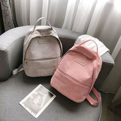 Retro Corduroy School Backpack For Girl Simple Design Women Backpacks Shoulder Bag Fe. Retro Corduroy School Backpack For Girl Simple Design Women Backpacks Shoulder Bag Female Rucksack 2018 Mochila Outfit Accessories From Touchy Style Trendy Backpacks, Girl Backpacks, School Backpacks, Leather Backpacks, Popular Backpacks, Handbags On Sale, Black Handbags, Leather Handbags, Leather Bags