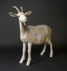 'Goat' - Susan O'Byrne | Irish, Edinburgh based artist | Glasgow Ceramics studio.