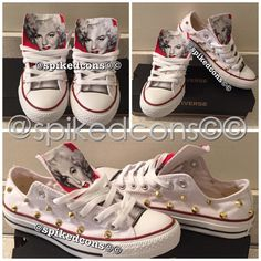 Role Model Converse by SpikedCons on Etsy Custom Converse f80631876b
