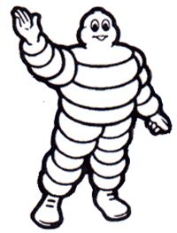 Bibendum - the Michelin Man.  Michelin's world headquarters is in Clermont-Ferrand, France, Sister City of Norman, OK.