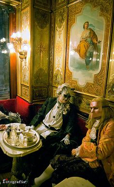 Cafe Florian during carnevale