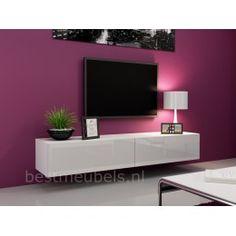 VERDI 1  180cm Zwevend Tv-Meubel Tv-Kast Hoogglans