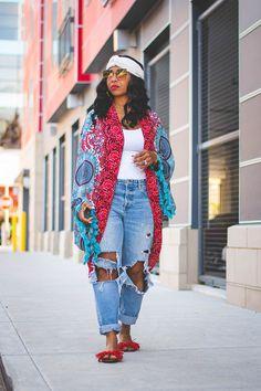 - Summer Outfit Idea, Distressed jeans, how to wear turban, Black gi. Black Girl Fashion, Curvy Fashion, Plus Size Fashion, Boho Fashion, Fashion Looks, Child Fashion, Modest Fashion, Fashion Beauty, Womens Fashion