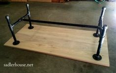Industrial Coffee Table Assembly - Sadler House