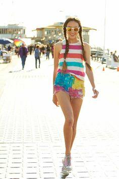 Tween & Teen fashion summer styles/ for forever 21/ Hair, Fishtail braids /   California Beach Fashion Styles. Photography, Wes Klain.  Model Juliet Larsen.