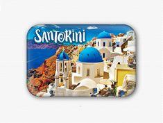 Santorini+Greek+Island+Fridge+Magnet  #refrigeratormagnet #magnet #kitchen #decoration Planet Movie, Monster Squad, Love You Mum, Loch Ness Monster, Santorini Island, Halloween Movies, Refrigerator Magnets, Kit, Greek Islands