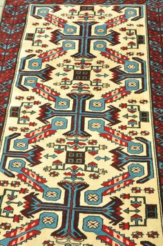 Antique Vintage Turkish Hand-knotted Kilim Rug by TurkishCraftsArts, $300.00