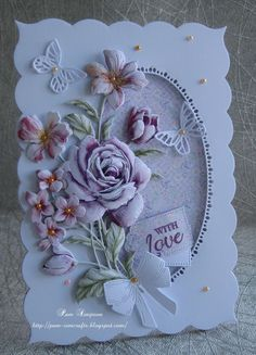"""Hello everyone, Sharing DT samples for Tattered Lace """"Cherished Moments"""" release on Thursday over on Create and Craft TV. Pretty Cards, Cute Cards, Handmade Birthday Cards, Greeting Cards Handmade, Create And Craft Tv, Heartfelt Creations Cards, Tattered Lace Cards, Shabby Chic Cards, Shaped Cards"""
