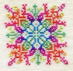 Ink Circles: Cross-stitch thread color sequencing tutorial
