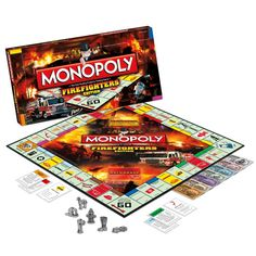 Great news for Monopoly players everywhere. Soon we will be blessed with a firefighter edition Monopoly game. While many Fire Chiefs have been playing games with departments for a long time, now av… Firefighter Games, Firefighter Family, Firefighter Paramedic, Firefighter Wedding, Volunteer Firefighter, Firefighters Girlfriend, Firefighter Pictures, Fire Dept, Fire Department