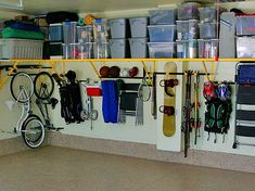 Get garage organization ideas and tips with off-site garage storage solutions offered in CT. Learn how to declutter your garage and storage units. Organisation Hacks, Storage Organization, Workshop Organization, Wall Storage, Storage Bins, Organizing Ideas, Smart Storage, Garage House, Diy Garage