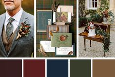 Shades of the Season: 10 color palette for the winter wedding - Winter Weddings Rustic Wedding Alter, Rustic Wedding Backdrops, Wedding Color Pallet, Wedding Color Schemes, Masculine Wedding, Winter Wedding Colors, Wedding Colours, Alternative Bouquet, Colour Pallete