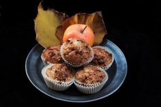 Apple muffins with crunchy crust.