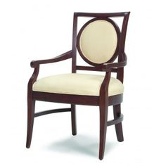 Our WA-06616 dining arm chair includes laminated hardwood, reinforced stress points for durability, a padded seat and framed circle, padded back. Order today.