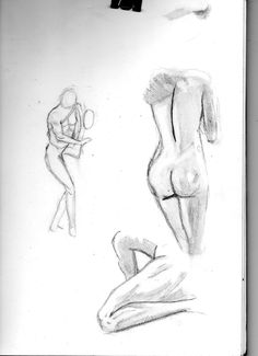V scan of my sketches of the marble statues...
