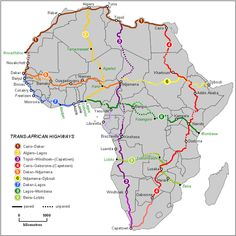 Trans-African road map