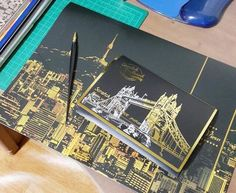 Wholesale Night views scratch painting paper craft