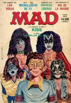 KPZ features free ads for the band KISS and their memorabilia and collectibles. This is a photo gallery containing licensed and unlicensed KISS memorabilia. Paul Stanley, Gene Simmons, Great Bands, Cool Bands, Kiss Memorabilia, Kiss Merchandise, Alfred E Neuman, Kiss World, Kiss Rock Bands